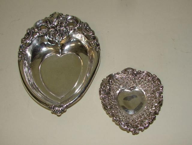 Two (2) Sterling Mint Dishes.