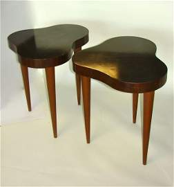 "Pair (2) Gilbert Rohde ""Biomorphic Cloud"" Tables."