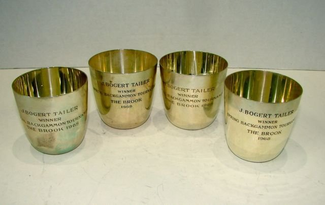 Set of (4) Tiffany & Co. Sterling Silver Tumblers.