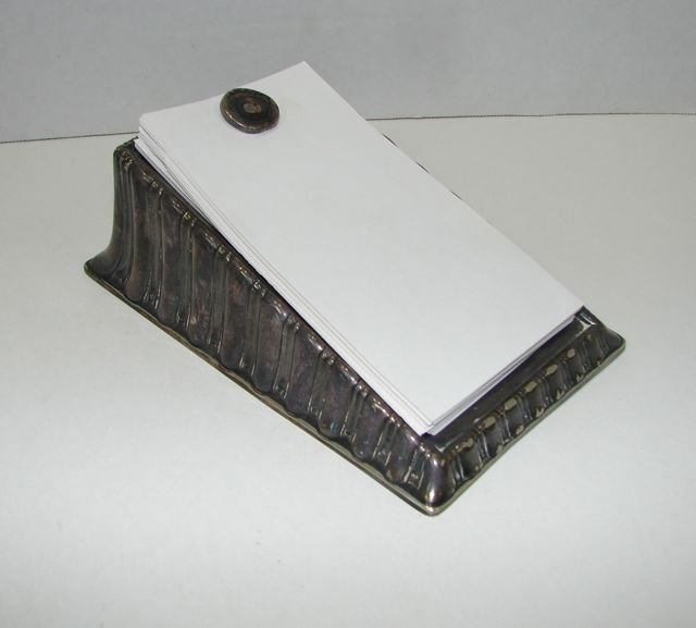 Tiffany & Co. Silver Plated Note Pad Holder.
