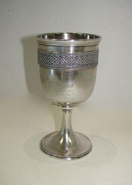Gorham Sterling Silver Wine Goblet.