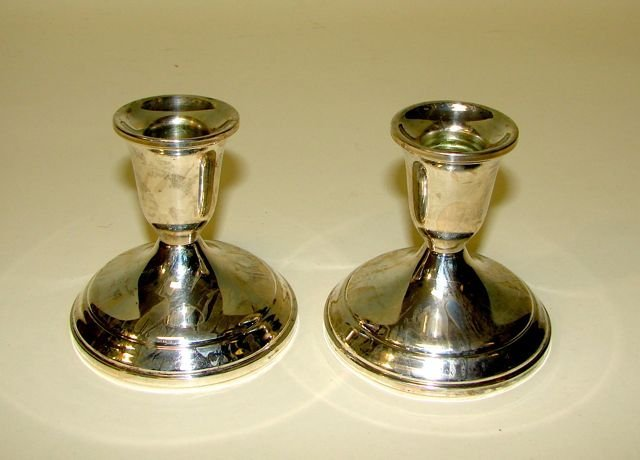 Towle Sterling Candle Holders.