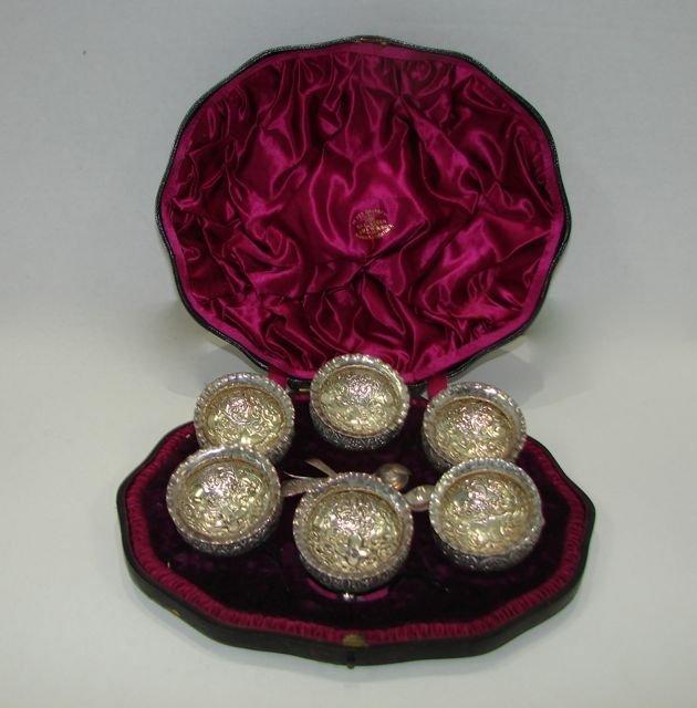 Set Six (6) English Victorian Silver Open Salts.