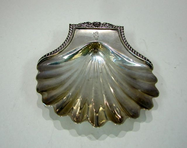 English Sterling Silver Shell Form Dish. 1822-23.