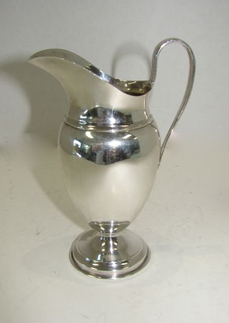 English Sterling Silver Milk Pitcher. 1906-07.