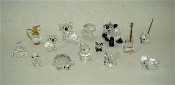 Group Fourteen (14) Swarovski Crystal Figurines.