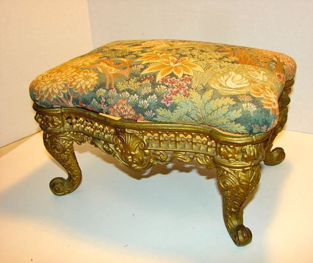 French Provincial Cast Iron Foot Stool.