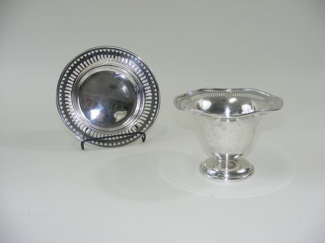 Sterling Silver Footed Bowl and Dish.