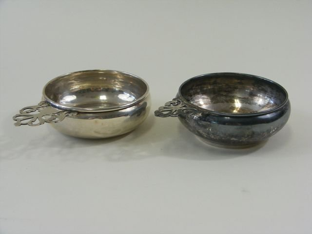 Group of Two (2) Sterling Silver Porringers.