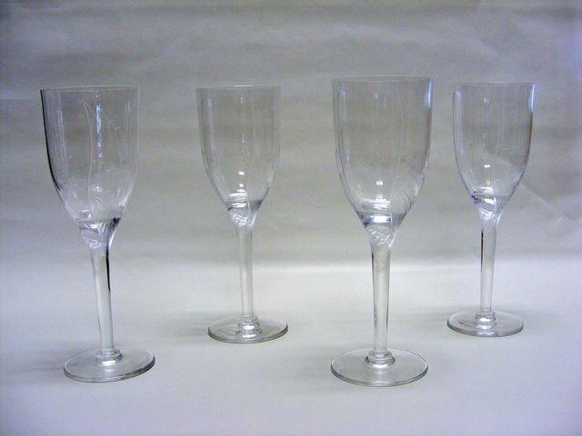 """Set of Four (4) Lalique """"Angel"""" Flutes."""