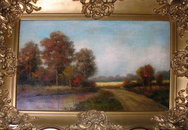 Oil Painting, River Landscape, British School.
