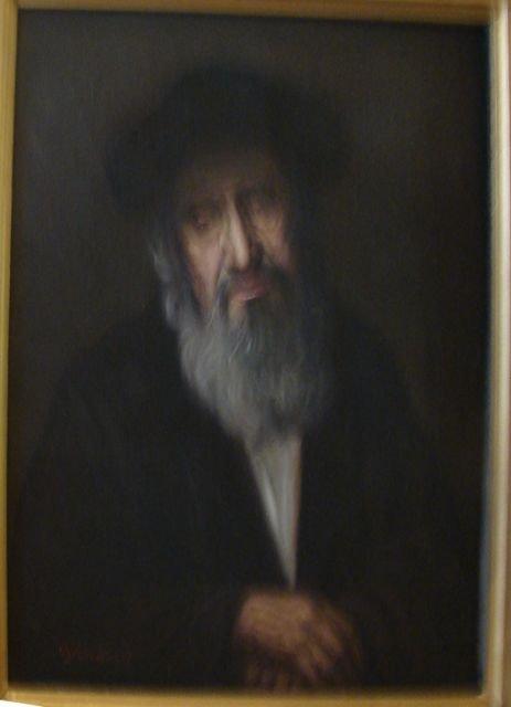 Oil Painting, Portrait of a Rabbi, C. 1900.