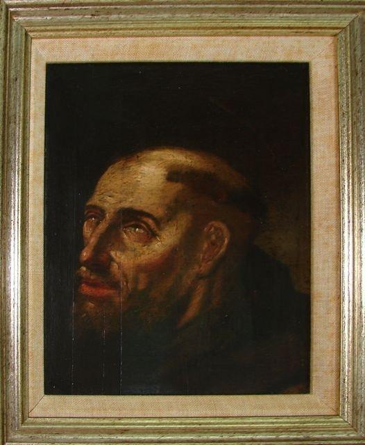 Oil on Board,  Italianized Saint Portrait, 18th C.