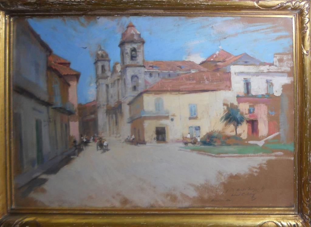 "Willard Metcalf, ""Study for Havana Cathedral"", 1901."