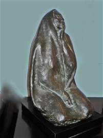 "Zuniga Bronze, ""Seated Woman"", 1975, III/VI."