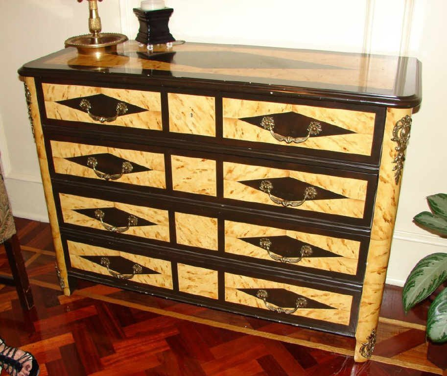 Pair (2) of  Neoclassical Style Chests by Baker.