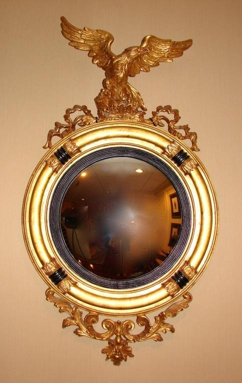 Federal Style Bulls Eye Wall Mirror.