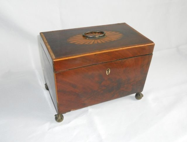 19th C. English Tea Caddy.