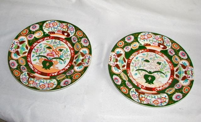 Pair (2) Ironstone China Plates.