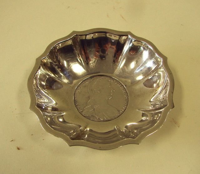Mexican Silver Coin Bowl,  1780.