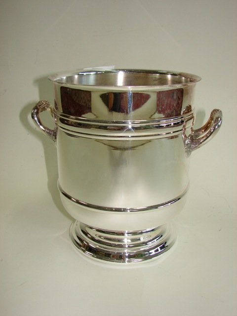 Christofel Silver Plated Wine Cooler.