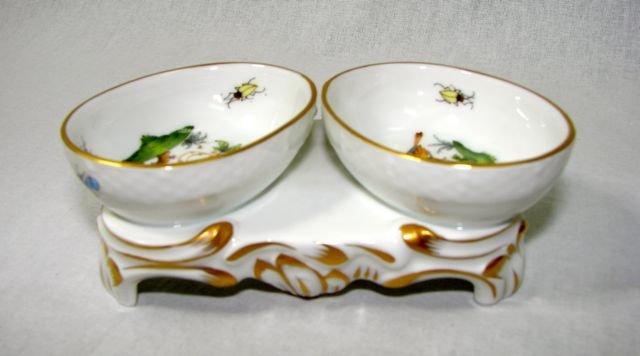 Herend Porcelain Open Salts, Rothchild Bird.