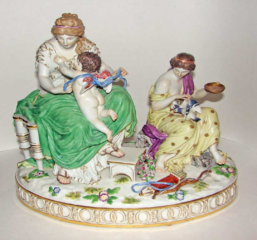 "Rare Meissen Porcelain Figural Group. ""J 70""."