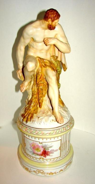 KPM Porcelain. Figure of Hercules. Berlin, 20th C.