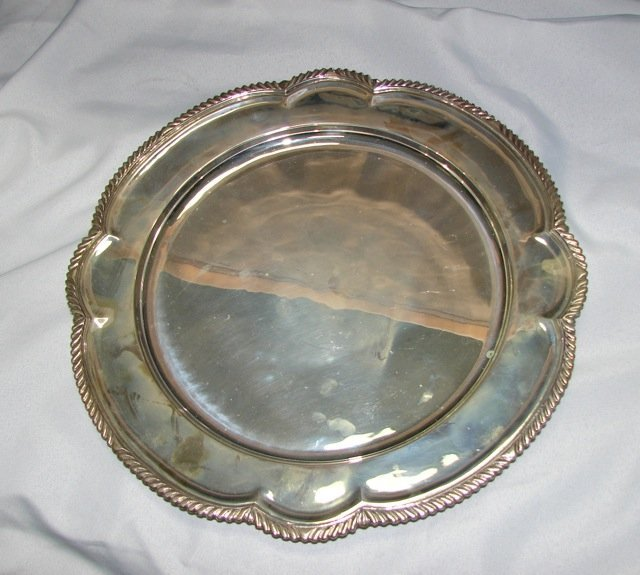 """Mexican Sterling Silver round Tray, Diameter 24."""""""