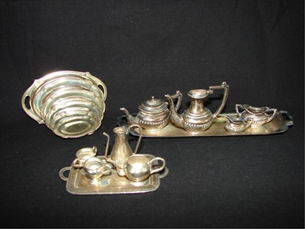 Assorted Sterling Silver Miniature Serving Ware.