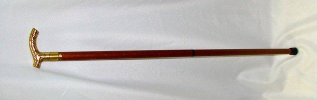 Old brass handled Walking Stick.