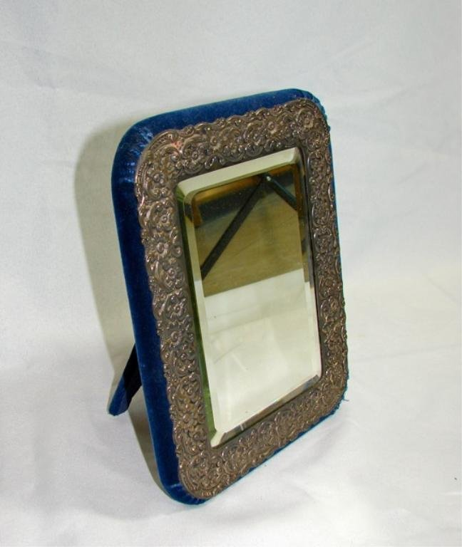 Sterling Silver Framed Table Mirror.