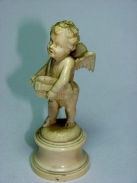 Fine European Carved Ivory Figure Cherub.