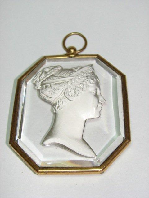Sulphite Glass Cameo Locket.