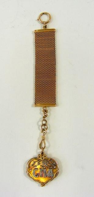 14K Yellow Gold Russian Watch Fob, 1905 - 1910.