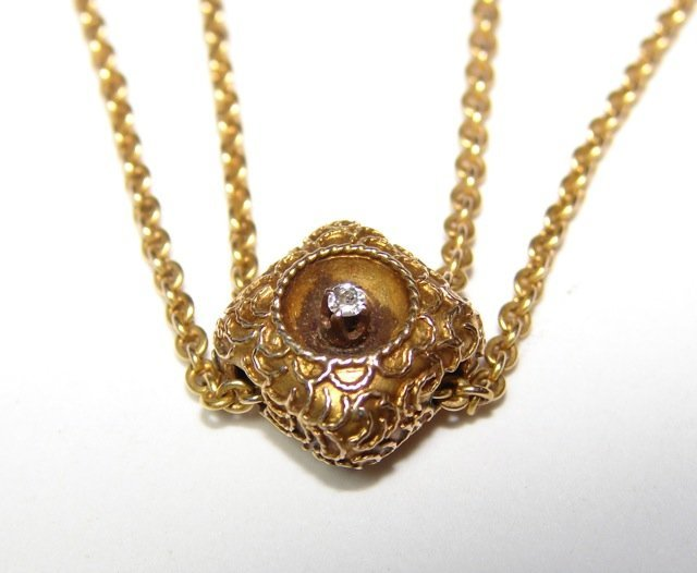 14K Yellow Gold Watch Fob/Necklace.