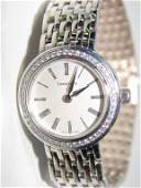 Tiffany  Co 18K White Gold Ladies Wrist Watch