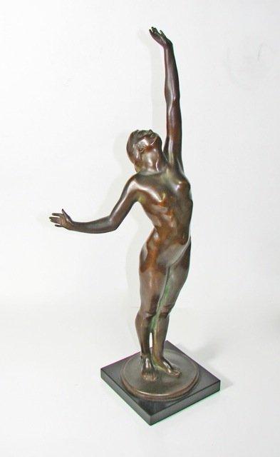 """Harriet Frishmuth - Bronze,  """"The Star"""", 1918."""