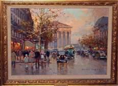 "Painting- Edouard Cortes,  ""La Madeleine""."