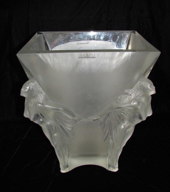 "Lalique Limited Edition ""Space Vase"" w/ Box, COA."