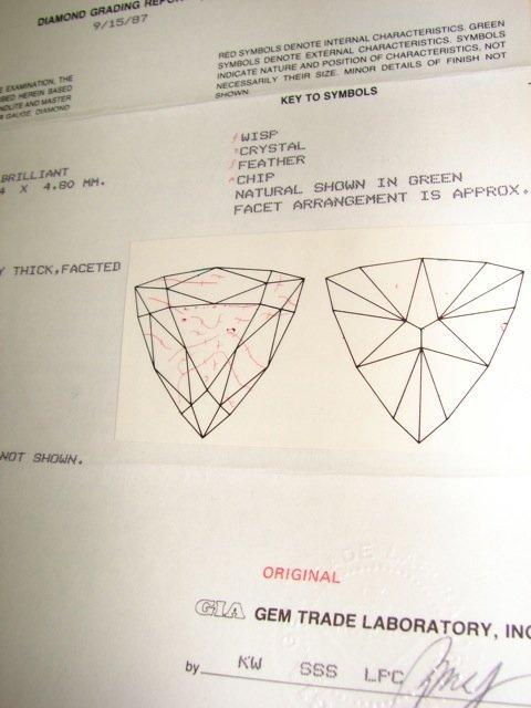 3.19 Trillion Cut Diamond Pendant Necklace. - 7