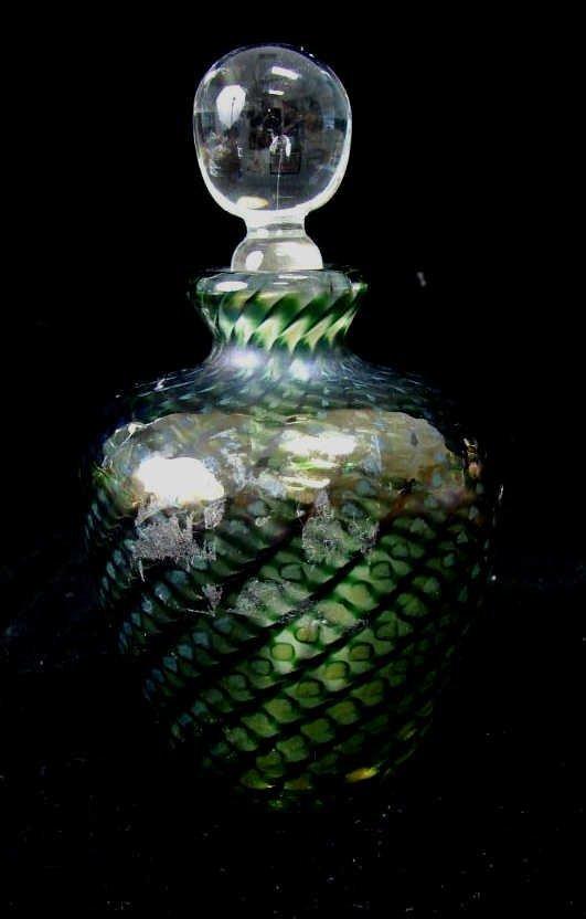 Art Glass Perfume Bottle, Signed Lundberg Studios