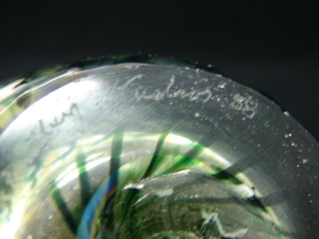 Art Glass Perfume Bottle, Signed Lundberg Studios - 2