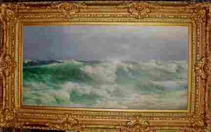 "David James Oil - ""Racing Seas"",  1890"