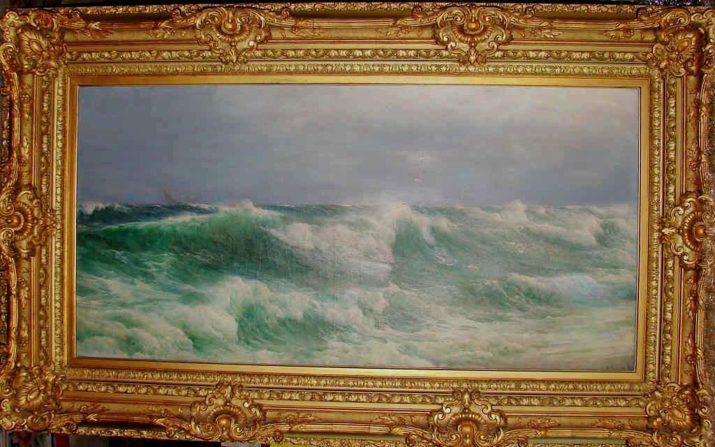 "David James Oil - ""Racing Seas"",  1890"