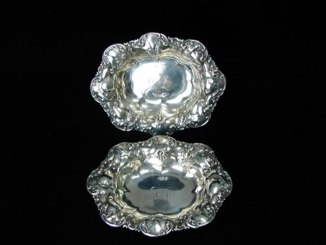 Pair A. Newsalt Sterling Silver Dishes