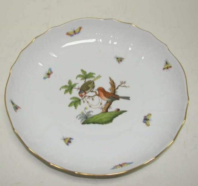 Herend Shallow Bowl, Rothschild Bird