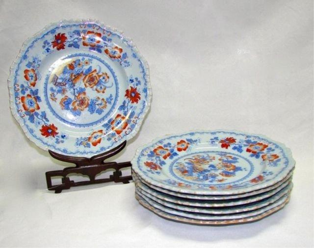 "Set for Seven (7) Ironstone Plates Morley"""""