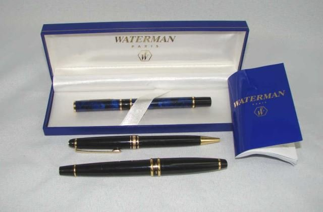 Group of Three Pens, Monte Blanc and Waterman