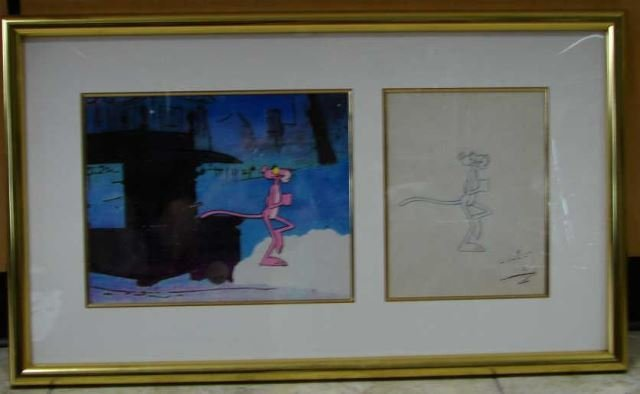 Friz Freleng Original Drawing - Pink Panther